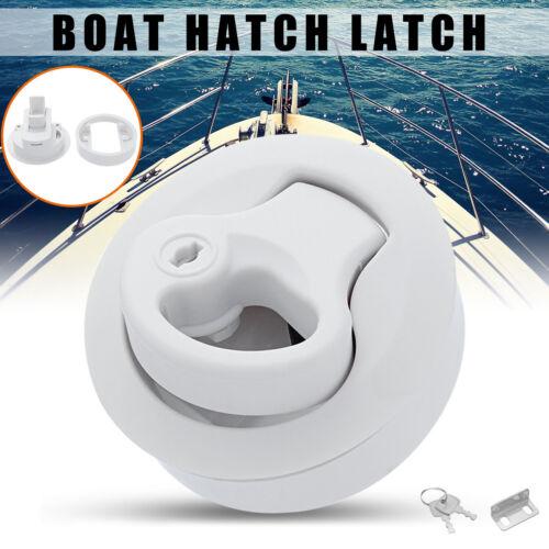 Slam Latch Hatch Round Pull With Lock 1//2/'/' Door Deck For M1-43 RV Marine Boat