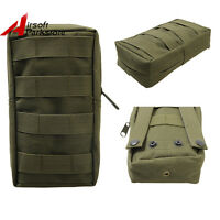 Airsoft Tactical Molle Belt Magazine Drop Pouch Medical First Aid Bag Olive Drab