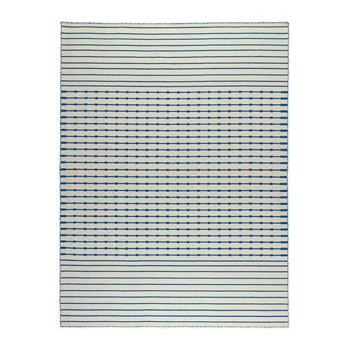 Alfombra de Ikea 170x240 Cm flatwoven tjäreby Hecho a Mano Azul