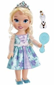 Princess-Elsa-Frozen-Toddler-14-034-Doll-Plus-Olaf-Snowman-Friend-Disney-3-Years