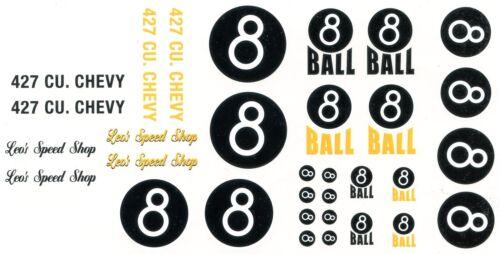 #8 Ball Leo/'s Speed Shop race car DECAL SHEET