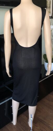 Azzedine Alaia Sheer Bodycon Open Back Dress S/M - image 1