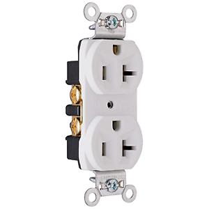 CRB5362W 20 Amp 125 Volt Spec Grade Receptacle 10 Pack White Pass /& Seymour