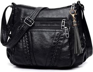 Crossbody Bags For Women Pocketbooks Soft PU Leather Purses and Handbags Multi P