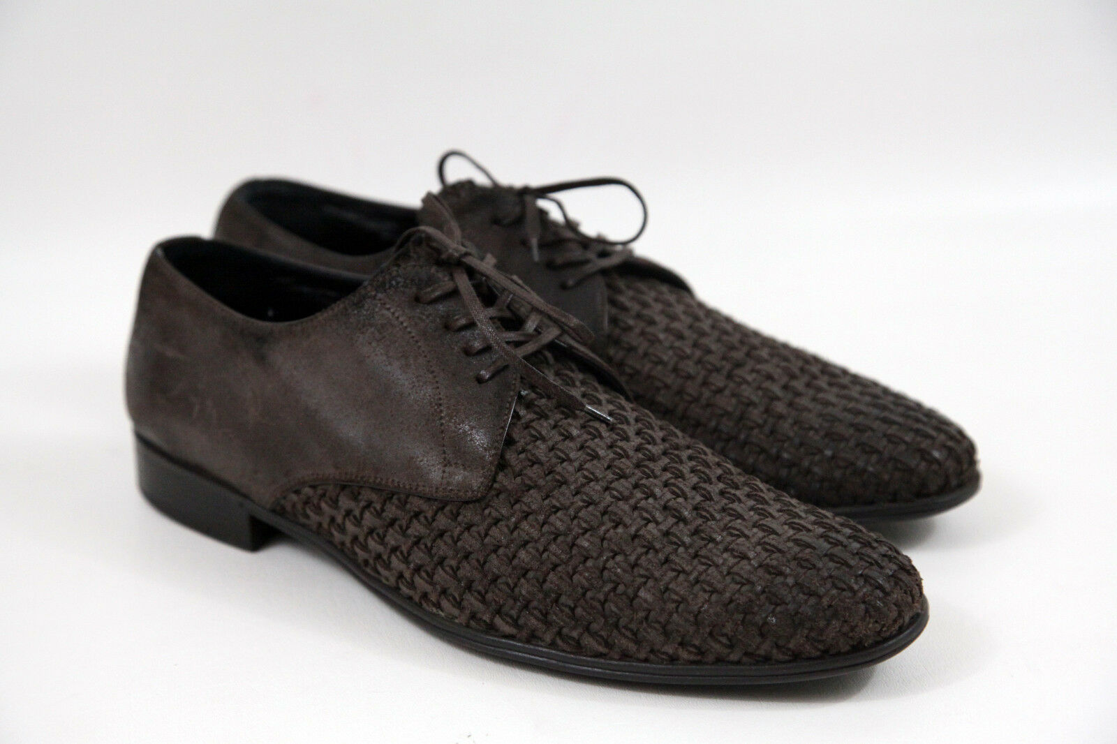 #Dolce & Gabbana Woven Leather Worn Finish Oxfords Size 9 usa size 10 msrp 995