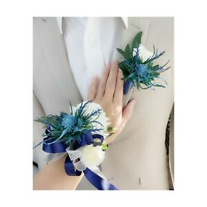 MADE-IN-USA-Corsage-Boutonniere-Rose-Thistle-Prom-Homecoming-Silk-flower