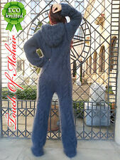 NB Hand Knitted Mohair Sweater Handgestrickte Catsuit Unisex Thick Fuzzy Gray