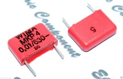 0.01µF 10nF 630V 5/% pich:10mm  NOS WIMA Capacitors MKP10 0.01uF 10pcs