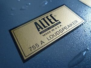 ALTEC-LANSING-755A-Type-A-water-decal-sticker-label-New-reproduction-DIY