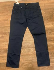 Kirkland-Signature-Men-s-Brushed-Cotton-Pant-36x-34-Dress-Blues