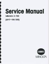 Minolta X-700 Service & Repair Manual