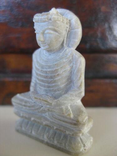 """Stone Buddha ~ 1/"""" figurine Meditation mudra samadhi"""