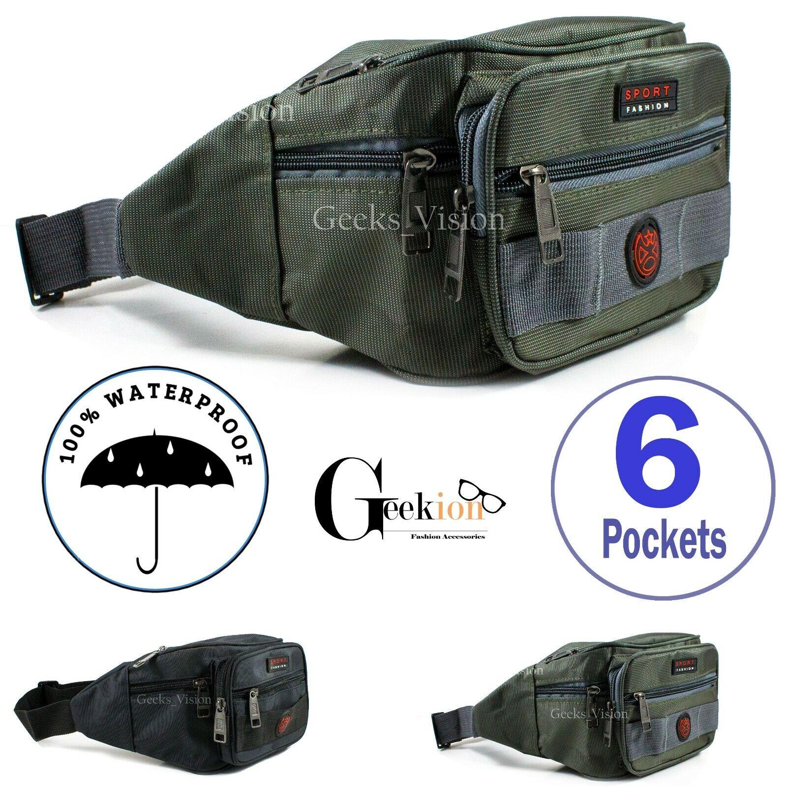 Waterproof Mens Womens Fanny Pack Belt Waist Hip Bag Shoulder Camp Tra... - s l1600