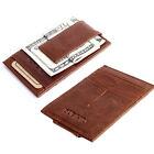 Men's Leather Magic Money Clip Slim ID Credit Card Holder Wallet Front Pocket