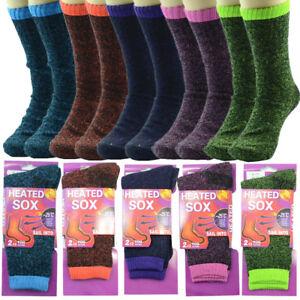 12 Pairs Size 9-11 LOT Women Heated SOX Thermal Winter Heavy Socks Super Warm