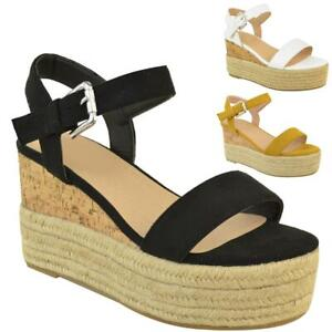 Womens-Ladies-Summer-Platform-Ankle-Strappy-Wedges-Open-Toe-Sandals-Shoes-Size
