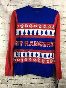 NHL New York Rangers Men s Women s Sweater Light UP LED Ugly Sweater ... 75f4879d2b