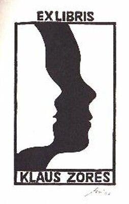 100% Wahr Exlibris Linolschnitt X3 - 2 Köpfe - Franz Grickschat Nr 52 Signiert PüNktliches Timing