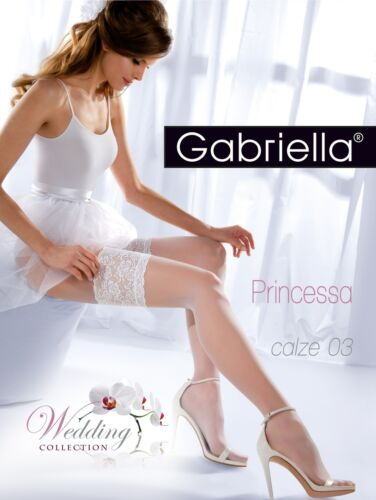 Wedding Collection GABRIELLA Luxury 03 Princessa 15 Denier Decorative Hold Ups