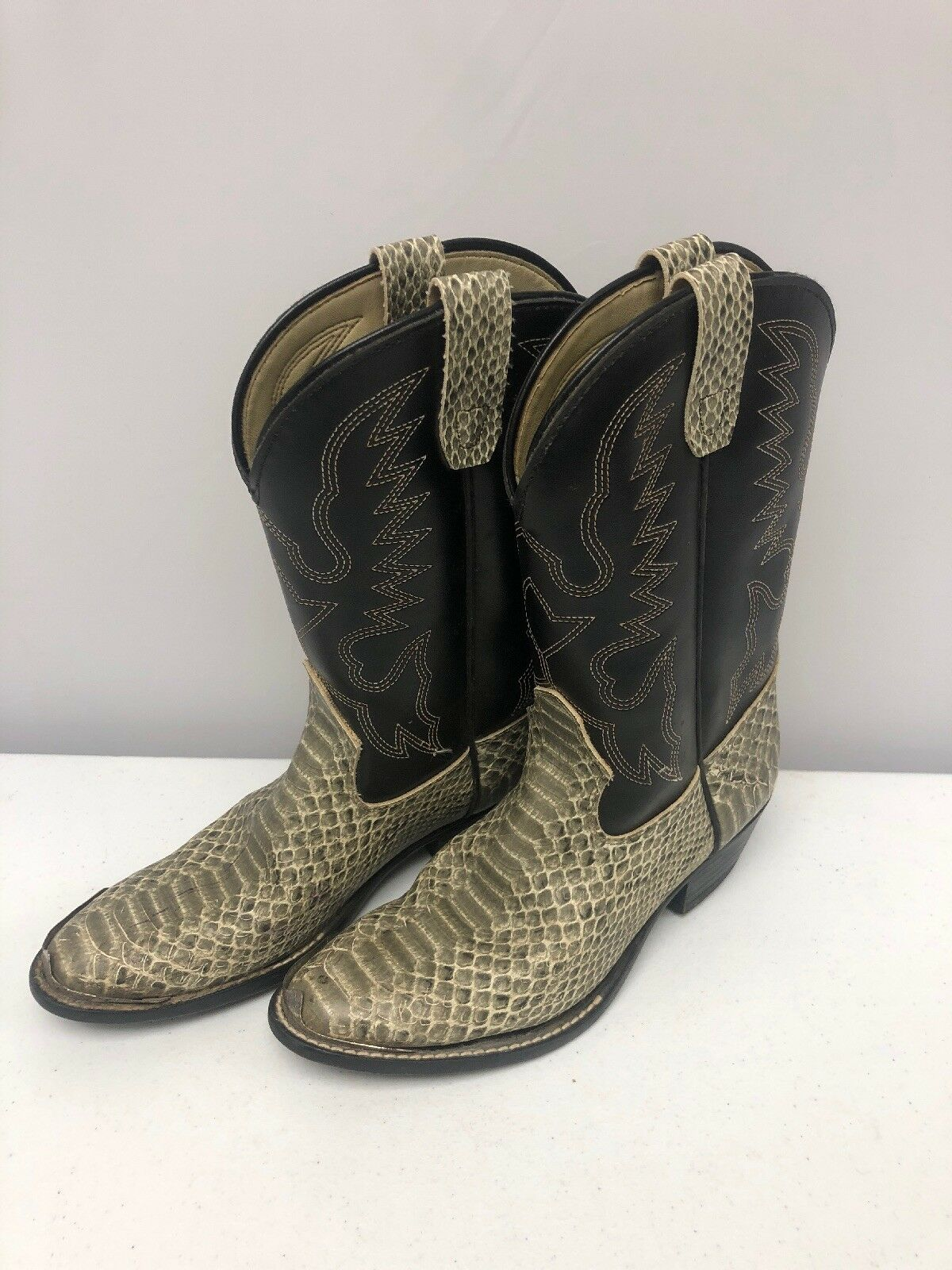 Nice Pair Of Ladies Texas Texas Texas Brand Man Made In America Leather Cowboy Boots 4-1 2D 9f711f