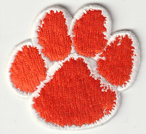 CLEMSON-TIGERS-NCAA-COLLEGE-VINTAGE-2-5-034-ORANGE-PAW-TEAM-LOGO-PATCH