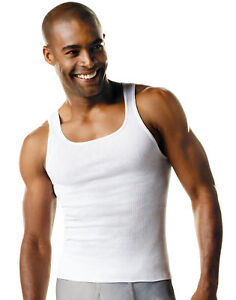 Hanes-Undershirt-7-pack-Men-039-s-FreshIQ-ComfortSoft-Tank-Bonus-White-A-Shirt-Value