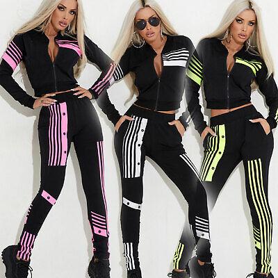 Abile By Alina 2-divisorio Cropped Giacca + High-waist Jogging Pantaloni Tempo Libero Tuta Pantaloni Bottone- Materiale Selezionato