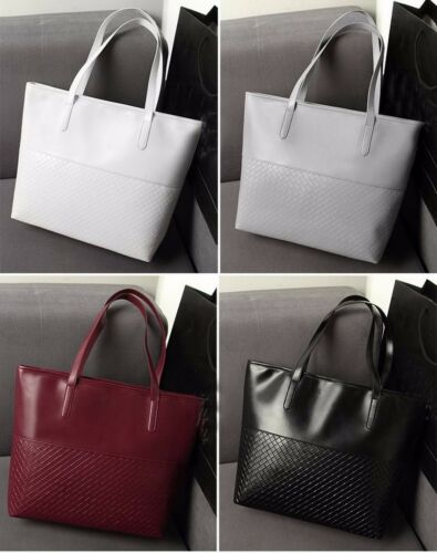 Fashion European and American Women Handbags Leather Criss-cross Shoulder Bag