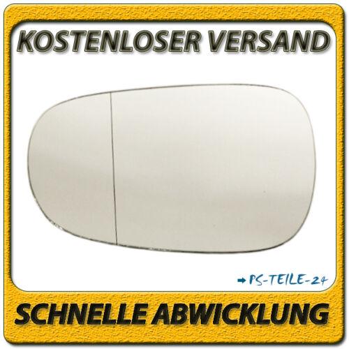 Spiegelglas für RENAULT MEGANE I 1996-05//2002 links Fahrerseite asphärisch