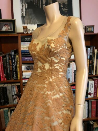 Vintage 1950s PEGGY HUNT LACE ILLUSION LAYERS TULL