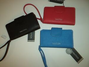 Ladies-Nautica-RFID-Secure-Iphone-Droid-wristlets-Red