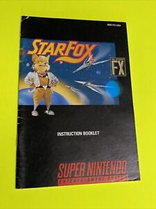 STAR FOX  - Instruction Booklet Manual Original Book SNES SUPER NINTENDO
