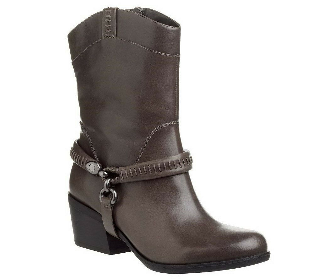 B. Makowsky Grau Leder Stiefel with Removable Harness-HUDSON SZ 5 180 LN