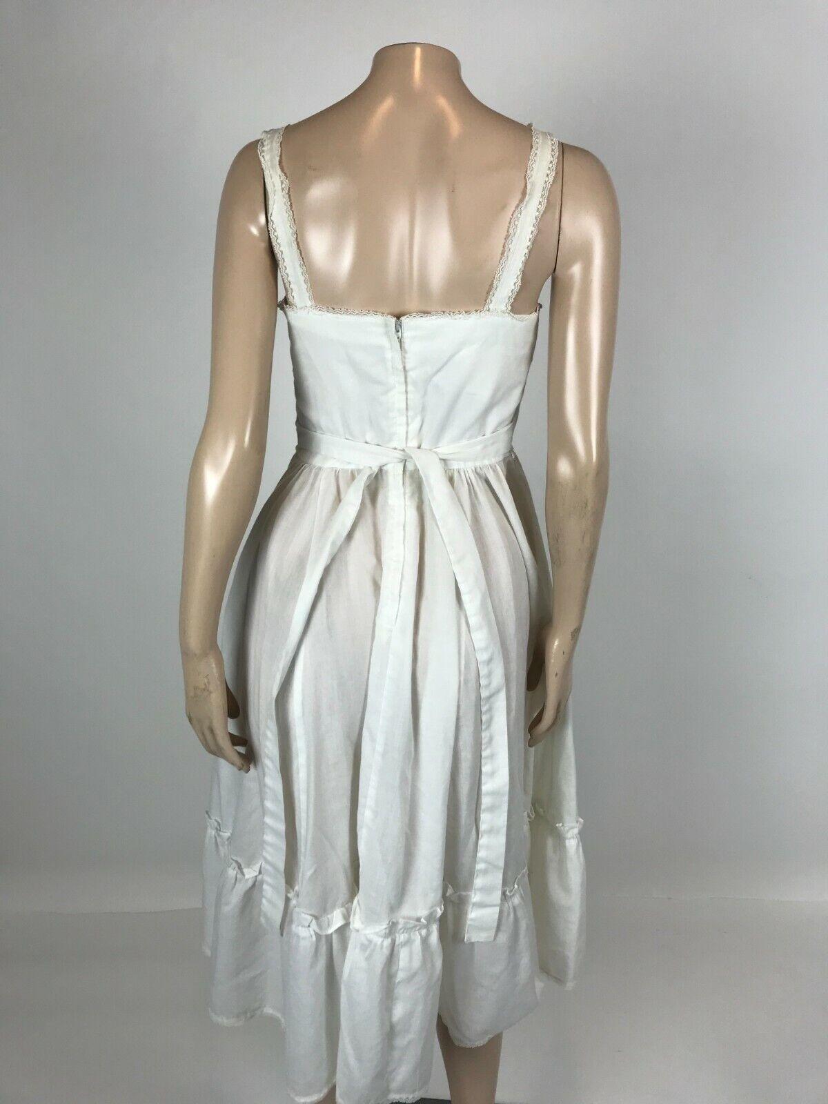 Vintage 70's Gunne Sax Women's Dress 9 cotton Flo… - image 5