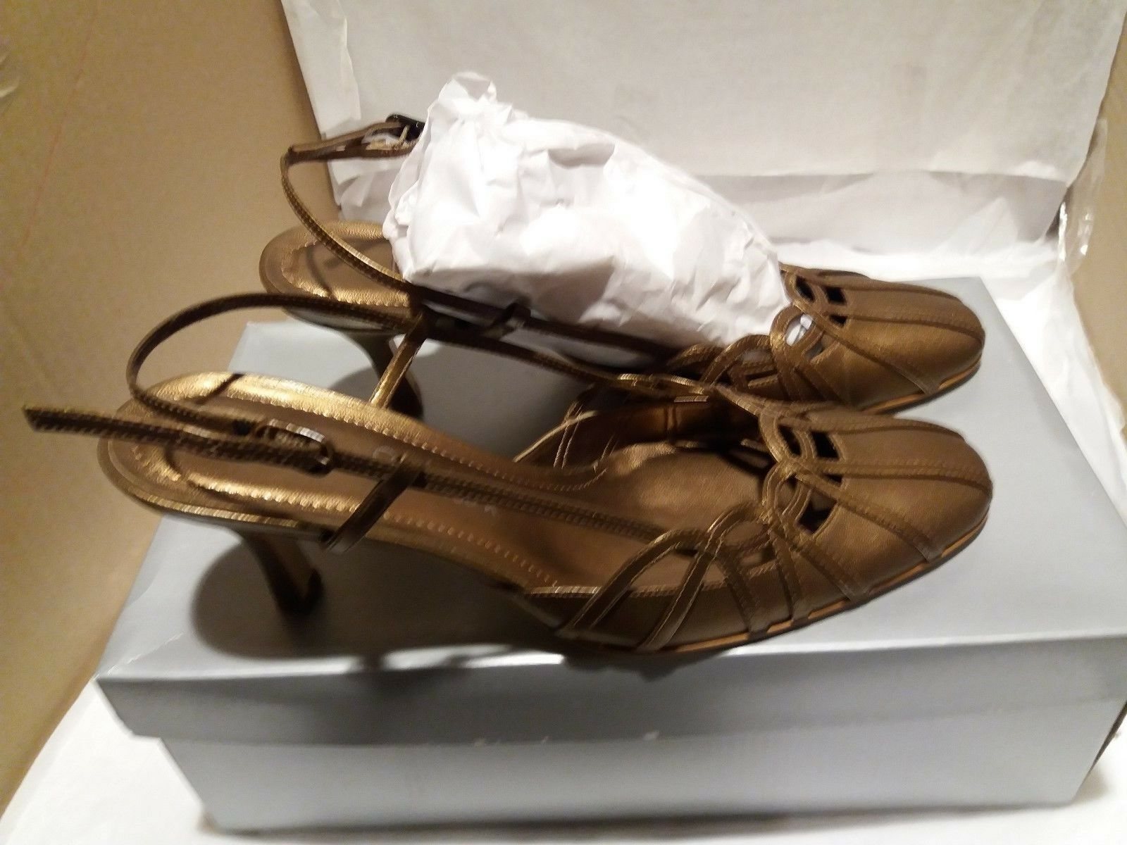 Stunning Jane Shilton Hoopla Bronze Leather Shoes - Size 37 UK 4 - Shoes 53adec