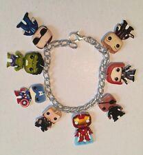 Avengers Doll Bracelet HANDMADE PLASTIC CHARMS Iron Man Captain America Thor Fun