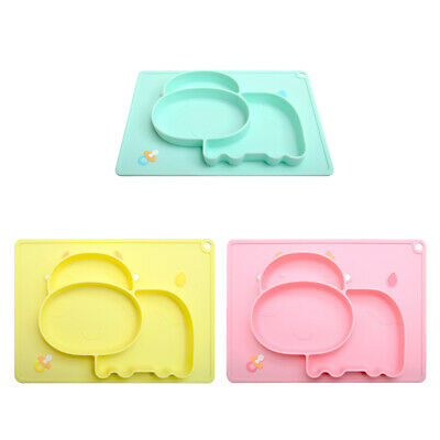 Safety Silicone Baby Plates Tableware Toddlers Divider Dishes Plates Food Dishes