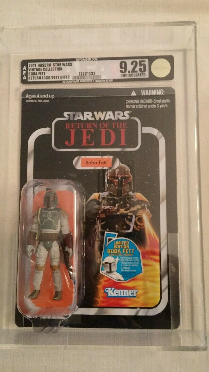 2011 Hasbro Boba Fett VC09 Vintage Collection ROTJ logo AFA U 9.25