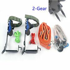 Treepole Climbing Spike Set Safety Belt Rope Safety Lanyard Carabiner 2 Gear