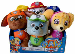 Rubble Paw Patrol figures collect all 6 Chase Rocky Skye Zuma Marshall