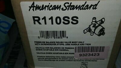 American Standard R110SS Pressure Balance Rough Valve Body Only with Screwdriver Stops
