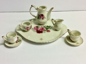 Formalities By Baum Brothers Miniature Tea Set Victorian Rose 8 Pieces Ebay