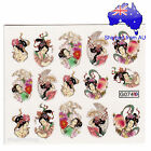 Geisha Girl Oriental Japanese Nail Art Water Transfer Decal