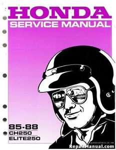 1985 1988 honda ch250 elite scooter service manual 61km103 ebay rh ebay com honda elite 150 service manual honda elite 250 service manual pdf
