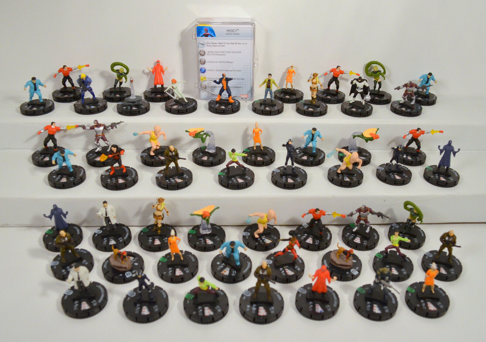 55 Marvel Deadpool 2014 Series Heroclix Game Piece Figures Lot Vamp Siryn Outlaw