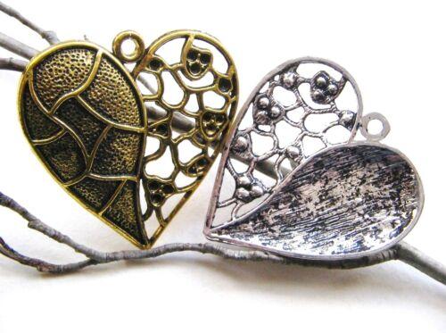 Metal remolque remolque joyas corazón serajosy 45x46mm