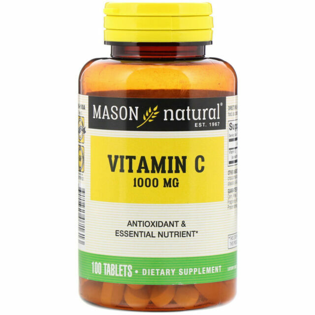 Mason Natural Pure Vitamin C 1000 Mg 100 Tablets For Sale Online Ebay