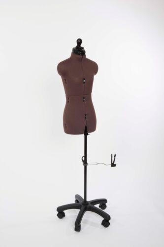 mit Rollstand verstellbare Schneiderpuppe mit Hosenansatz Modell Olivia