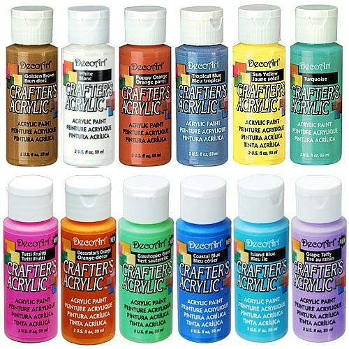 DECOART CRAFTERS ACRYLIC PAINT 59ml TUBES - 94 ASSORTED COLOURS - CRAFT PART 1