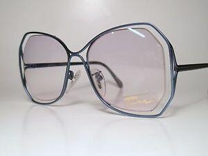a78ade2ee5a7 NOS Vintage Ladies Rimless Sun  Eyeglasses Frame TURA MOD 205 Blue ...